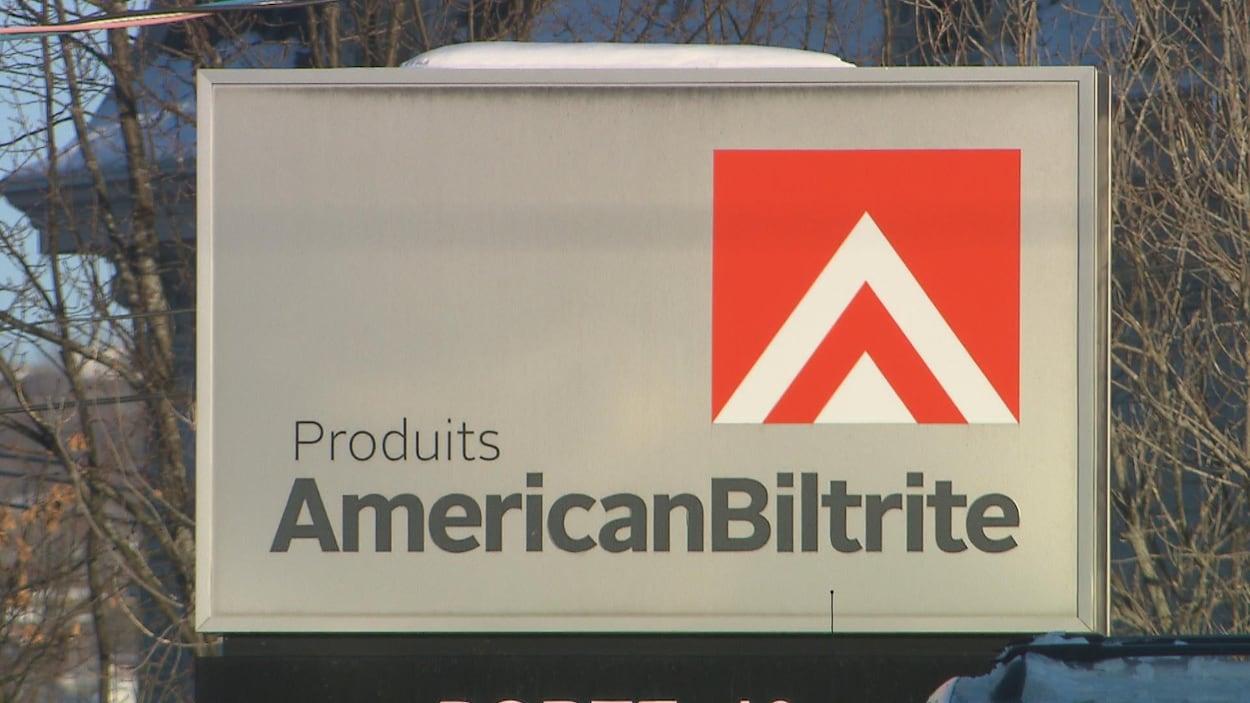 Une pancarte d'American Biltrite.