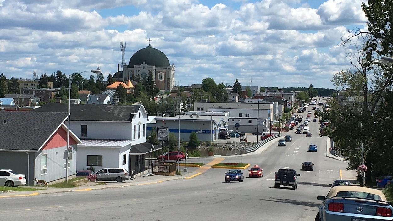 Le centre-ville d'Amos.