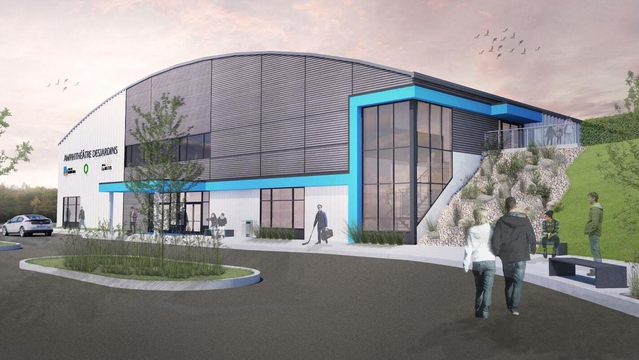 Les plans du futur amphithéâtre de Mont-Joli.