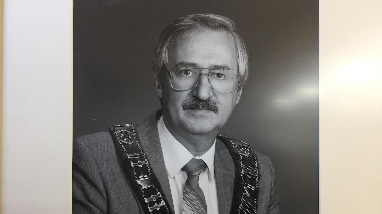 Portrait d'un homme.