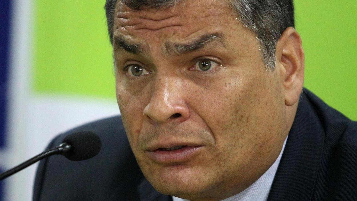 L'ancien président de l'Équateur Rafael Correa