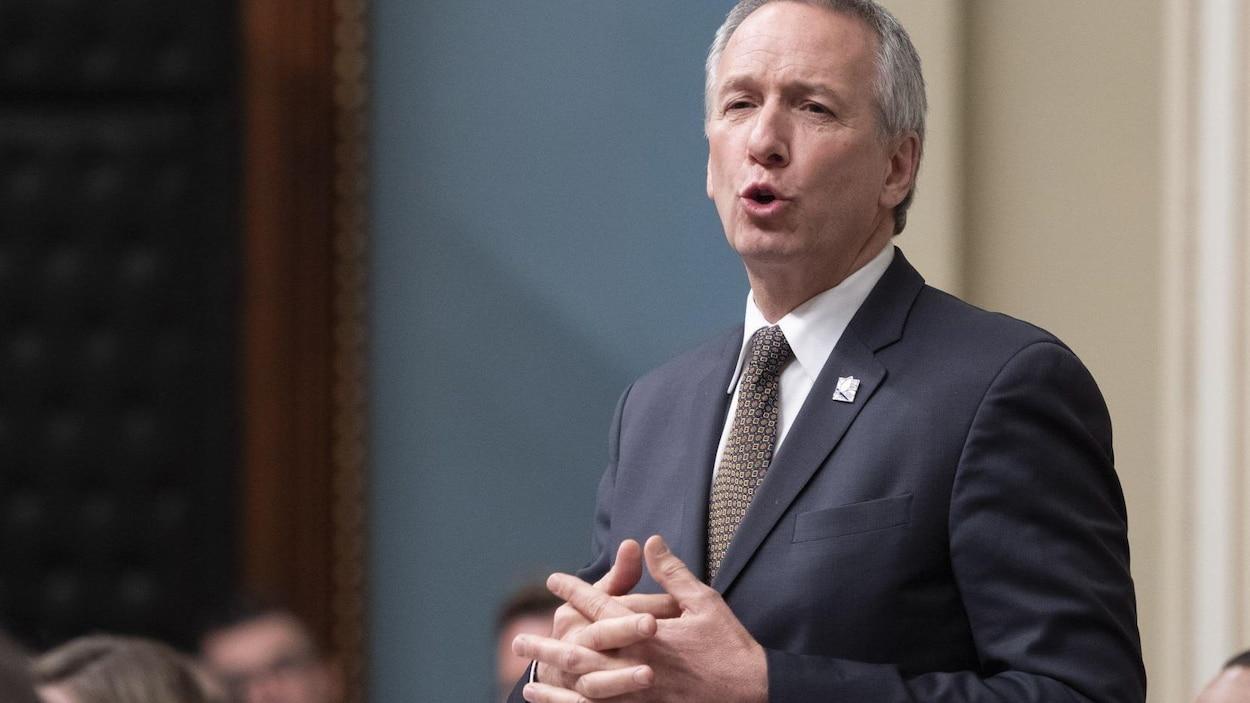 Le ministre de l'Agriculture du Québec, André Lamontagne.