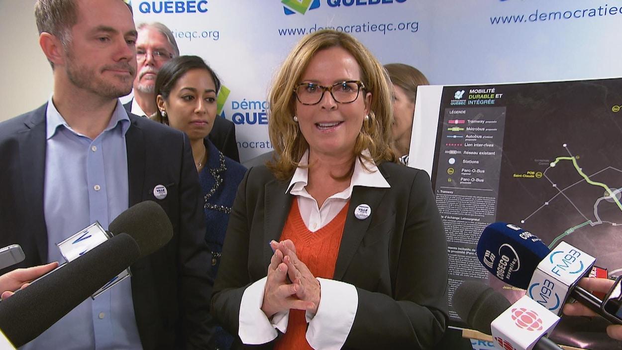 La candidate à la mairie, Anne Guérette