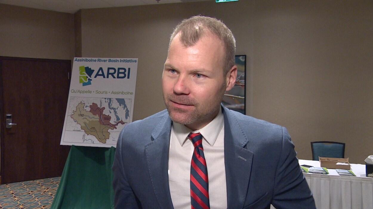Une photo du ministre de l'Environnement de la Saskatchewan, Dustin Duncan.