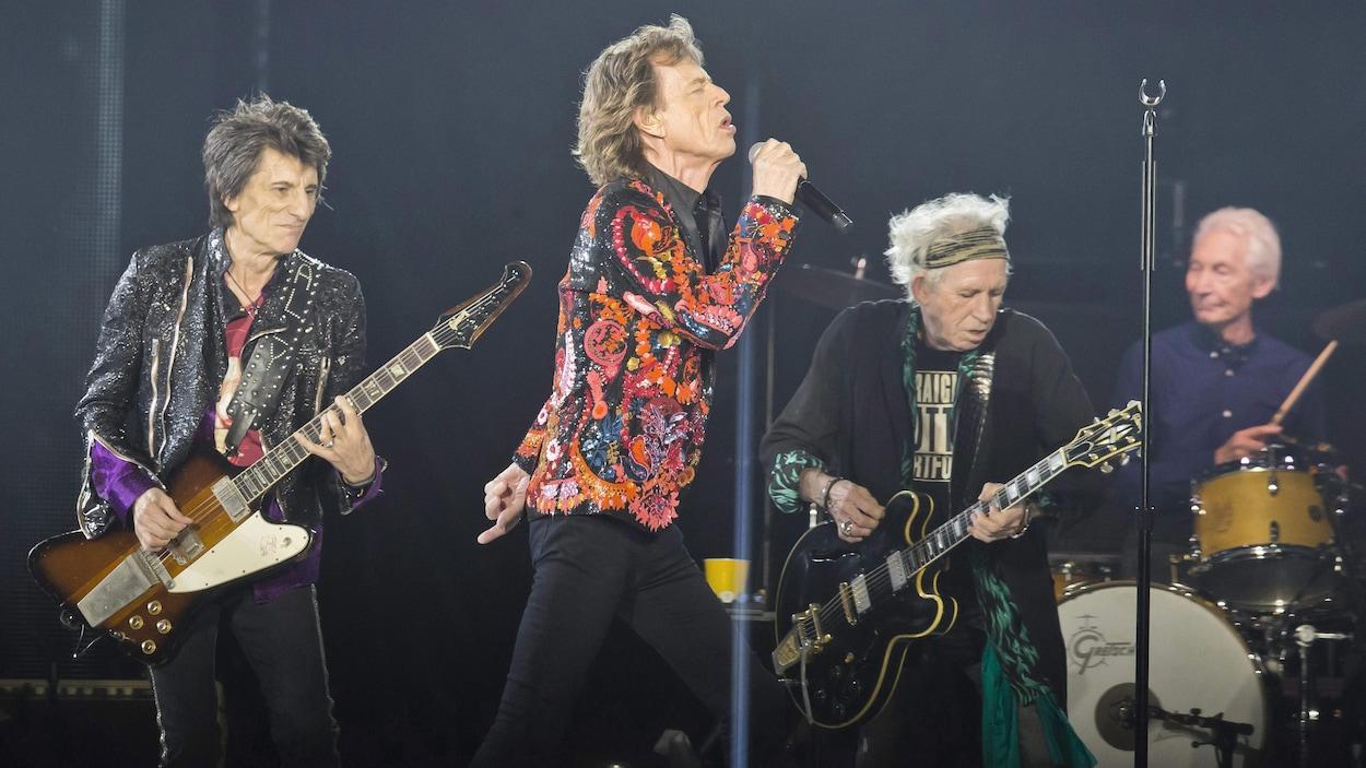 Les Rolling Stones en concert à Nanterre, près de Paris, en octobre 2017.