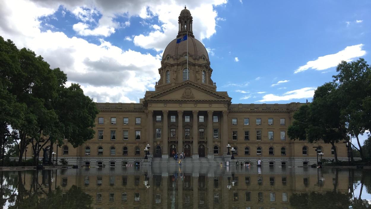 Le bâtiment de l'assemblée albertaine à Edmonton