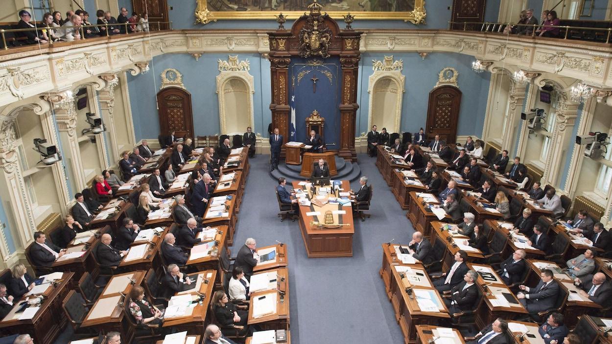 L'Assemblée nationale du Québec en date du 6 février 2018.