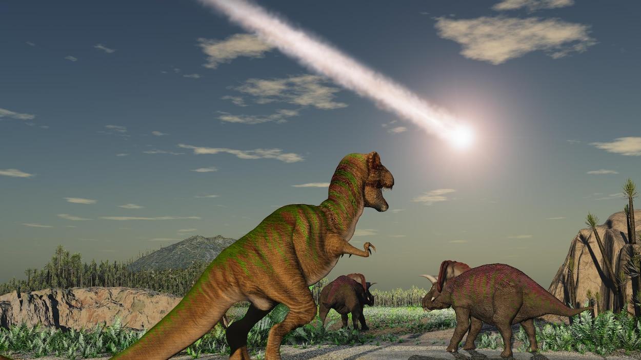 L'astéroïde Chicxulub est tombé dans la région de l'actuel Yucatan, au Mexique.