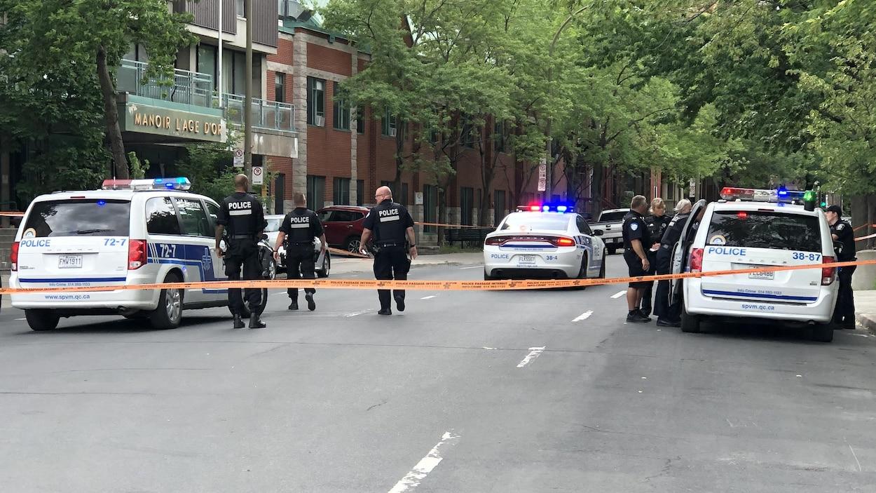 Une dizaine de policiers dans le secteur quadrillé.
