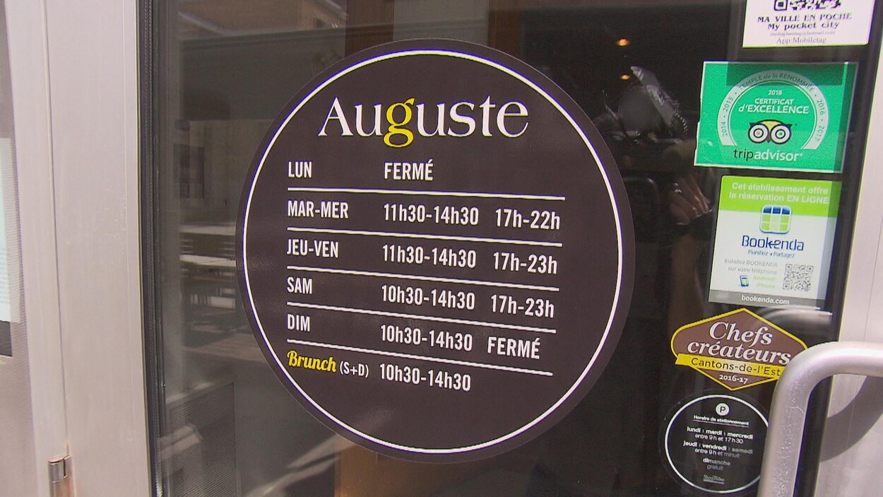 La porte du restaurant Auguste.