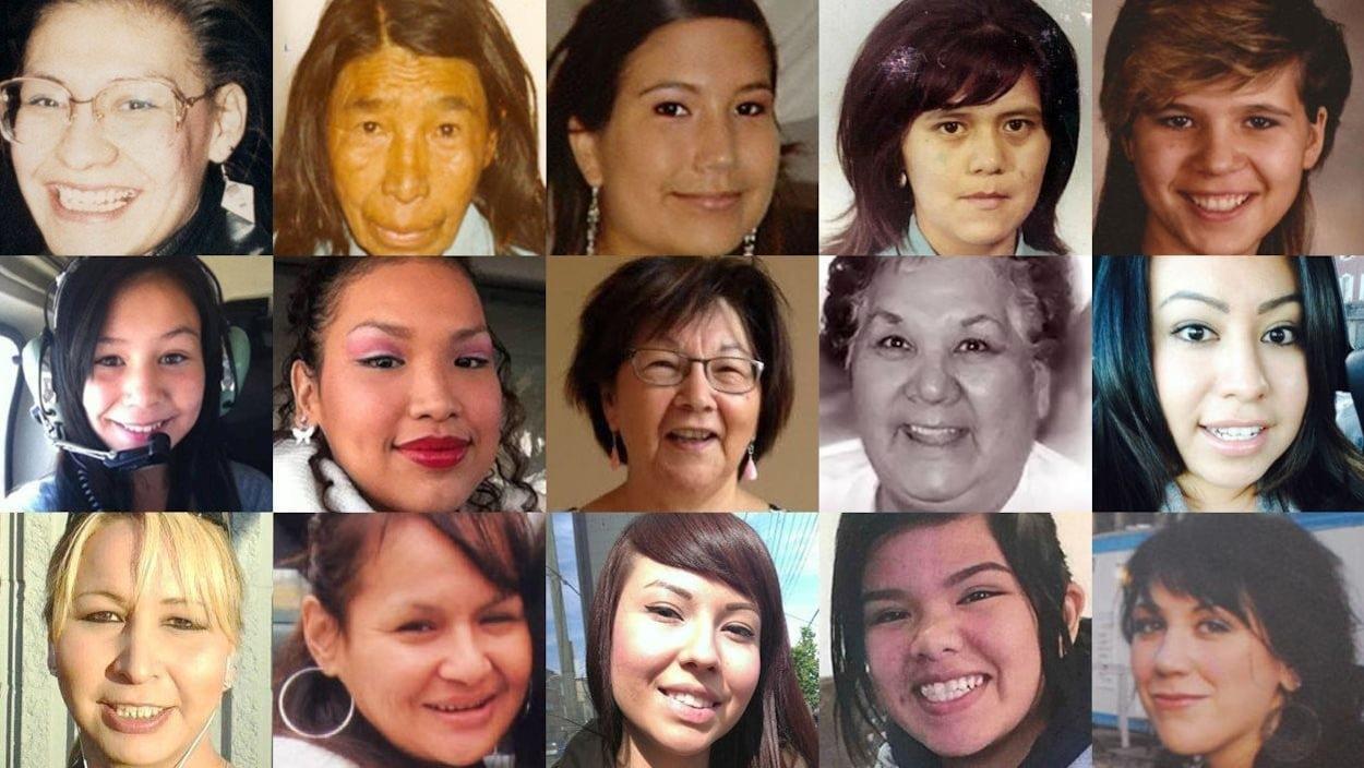 Quelques-unes des femmes autochtones assassinées ou disparues recensées par CBC
