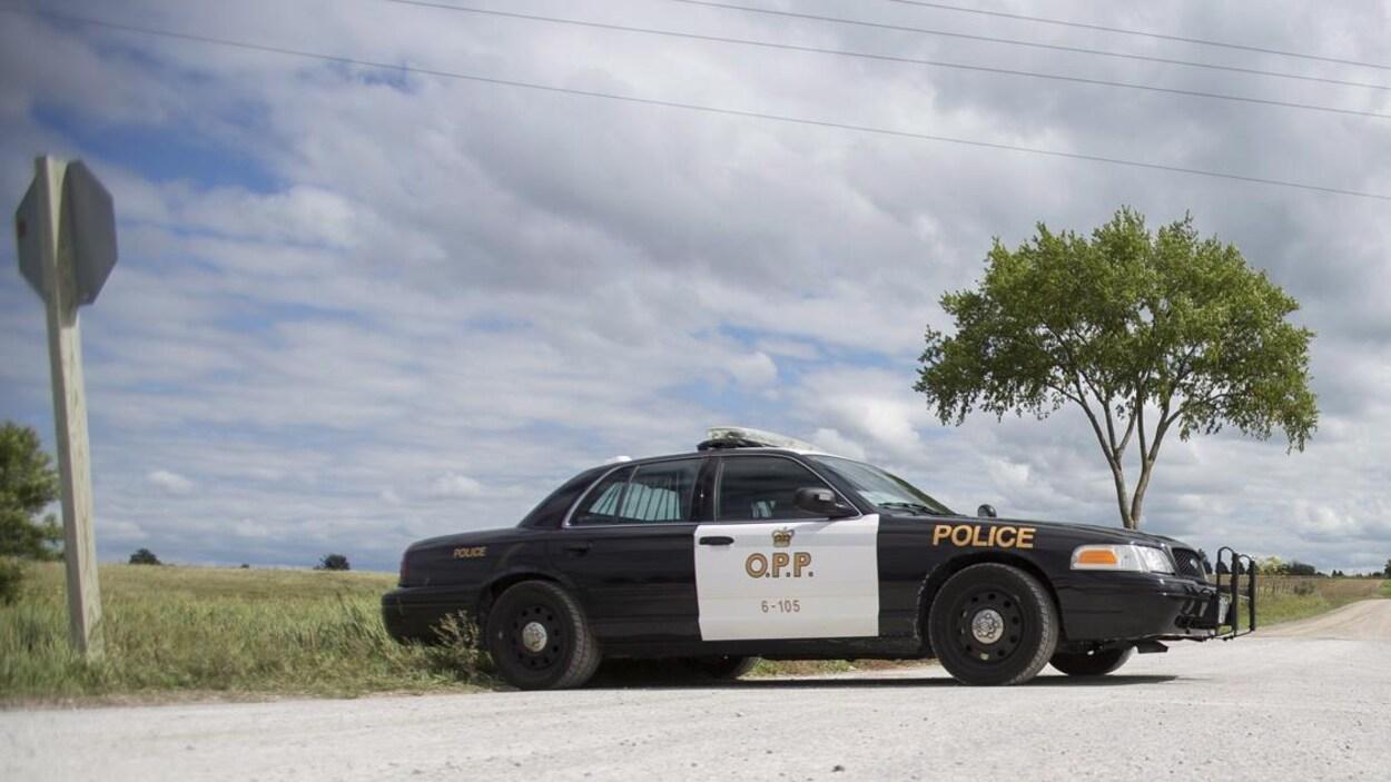 Une autopatrouille de la Police provinciale de l'Ontario