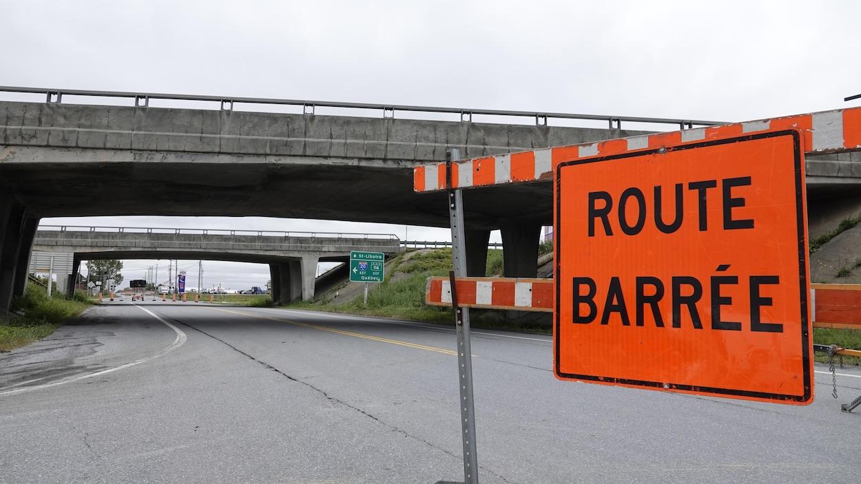Saint-Simon: l'autoroute 20 ouest fermée jusqu'à nouvel ordre