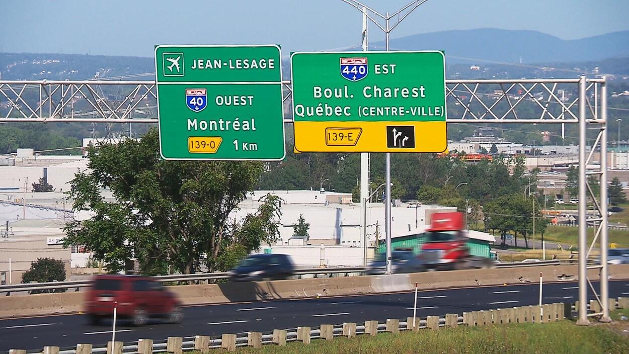 Intersection des autoroutes 40 et 440