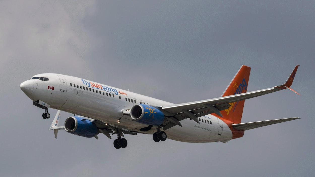 Un avion Boeing de la compagnie Sunwing.