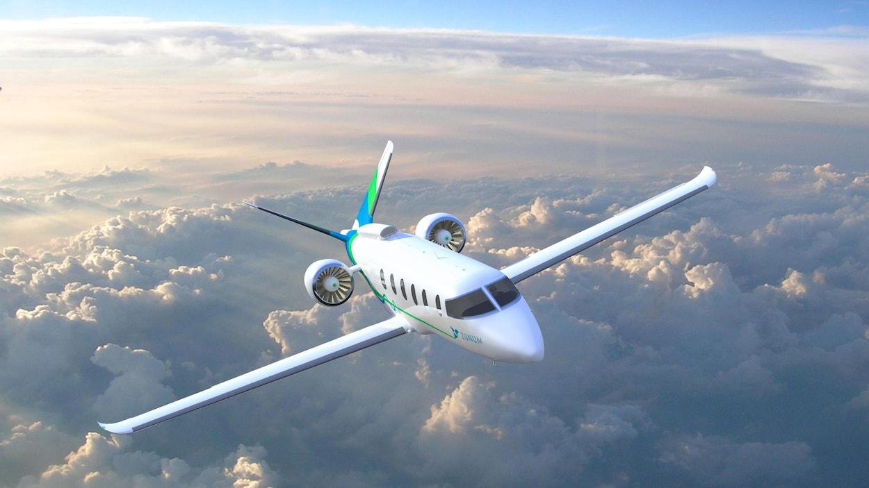 Un prototype d'avion électrique