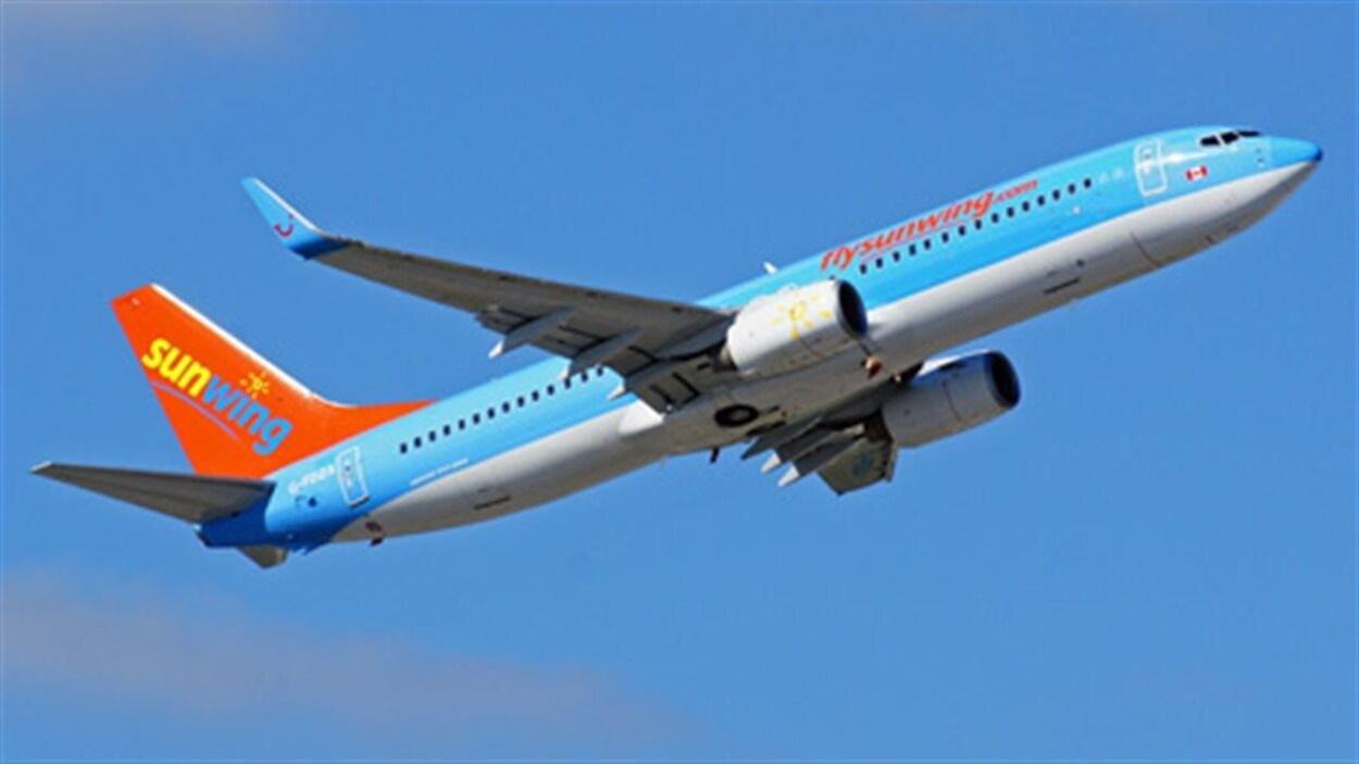 Un avion de la compagnie Sunwing