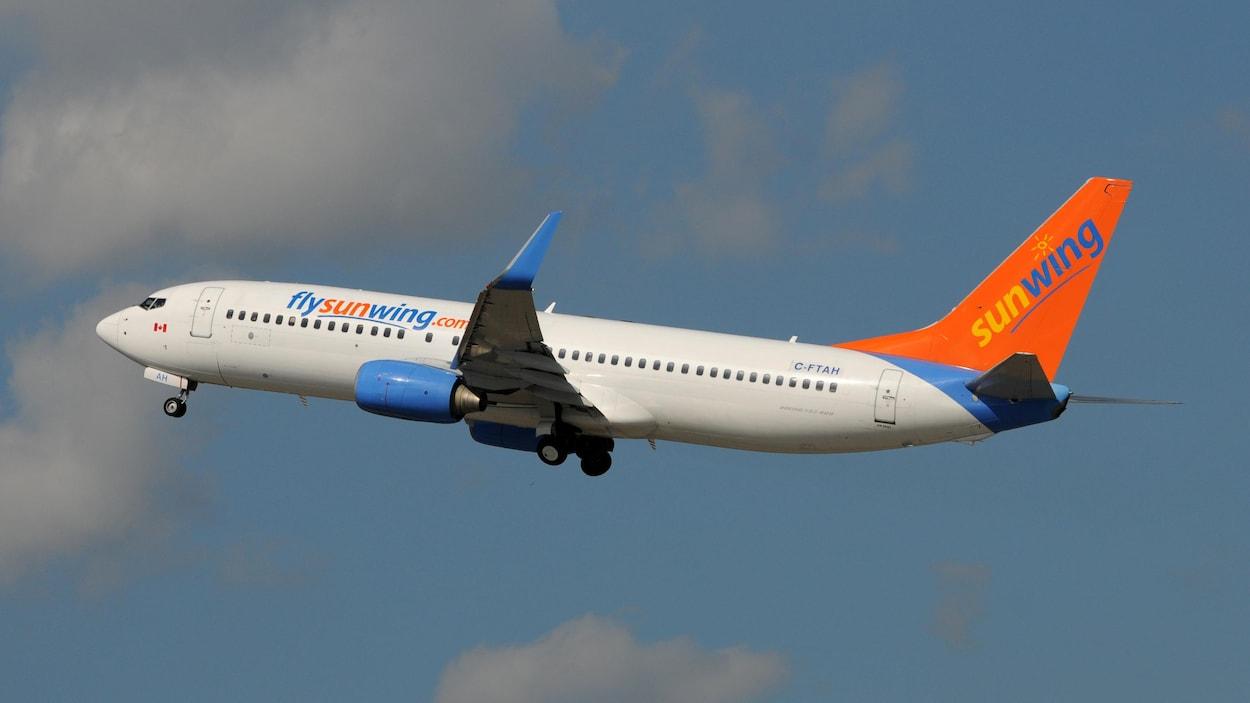 Un avion de Sunwing