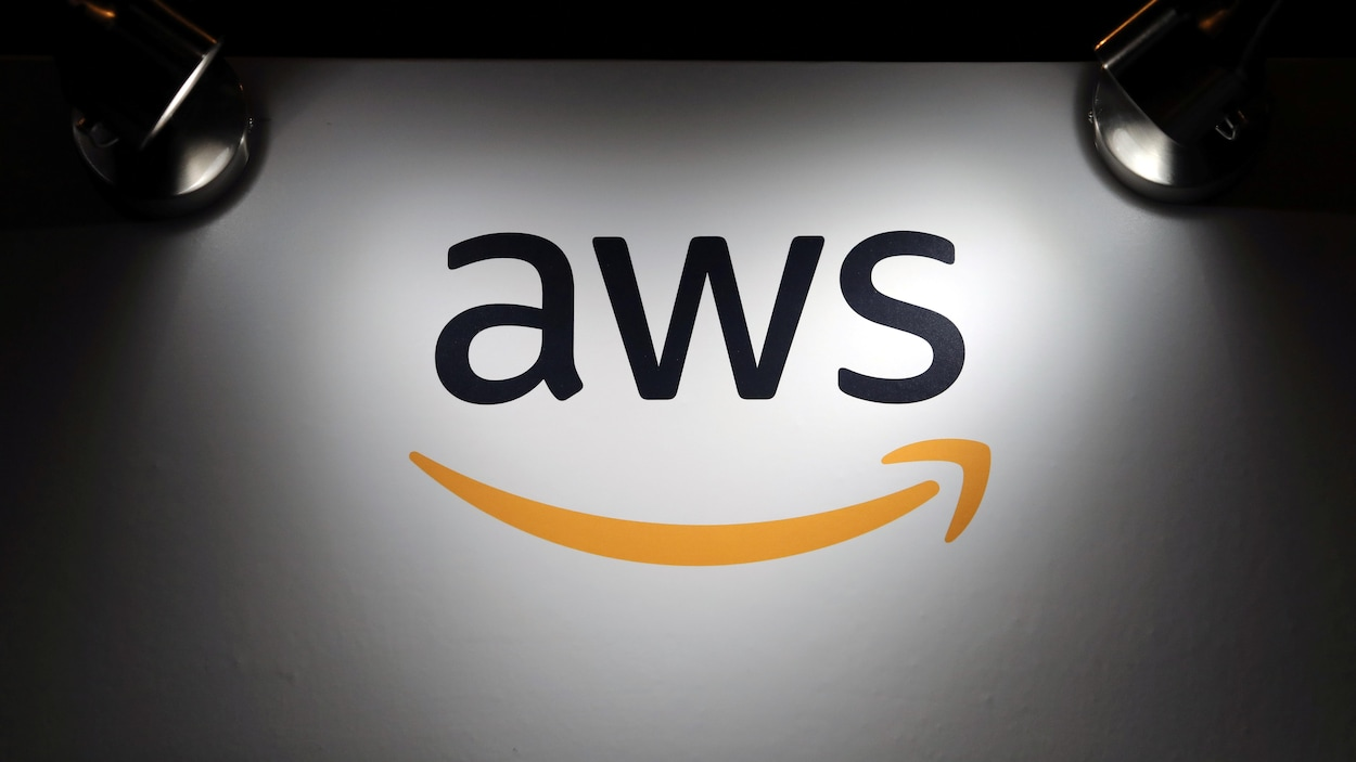 Le logo d'Amazon Web Services.
