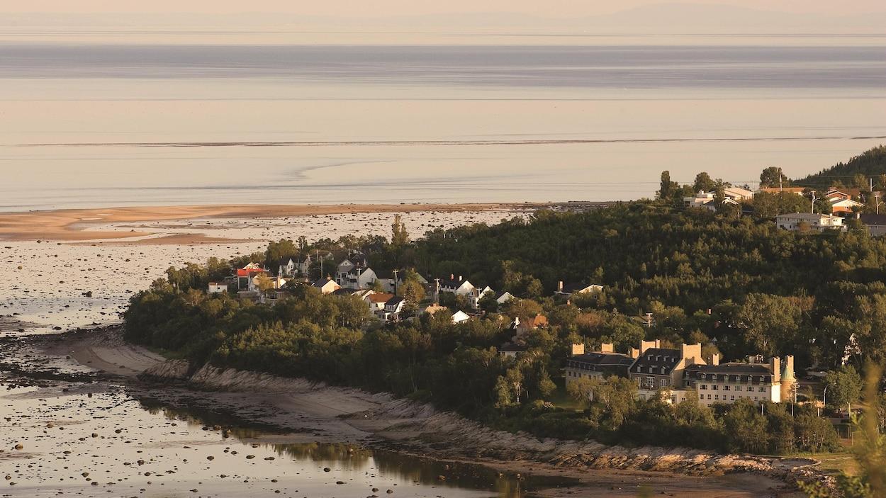 Une vue sur la ville de Baie-Comeau