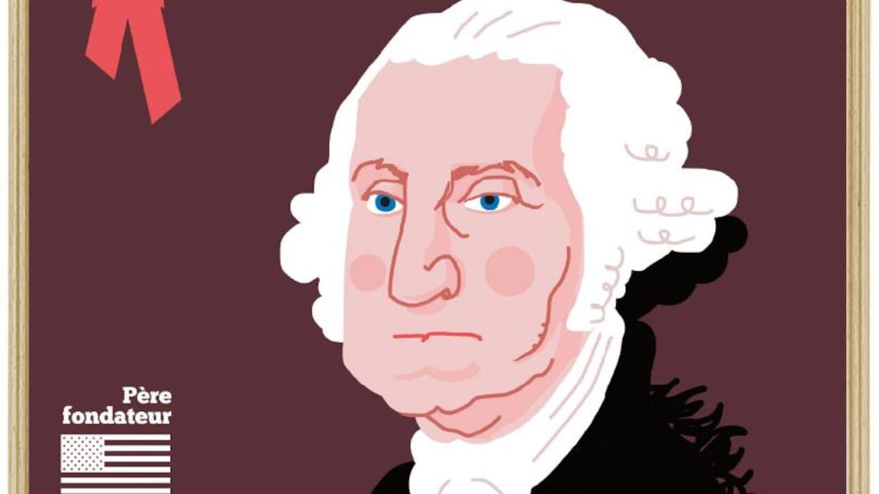 Illustration du président George Washington.