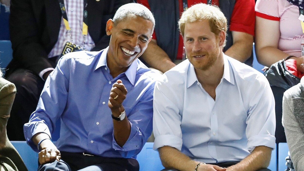 L'ex-président américain Barack Obama et le prince Harry.