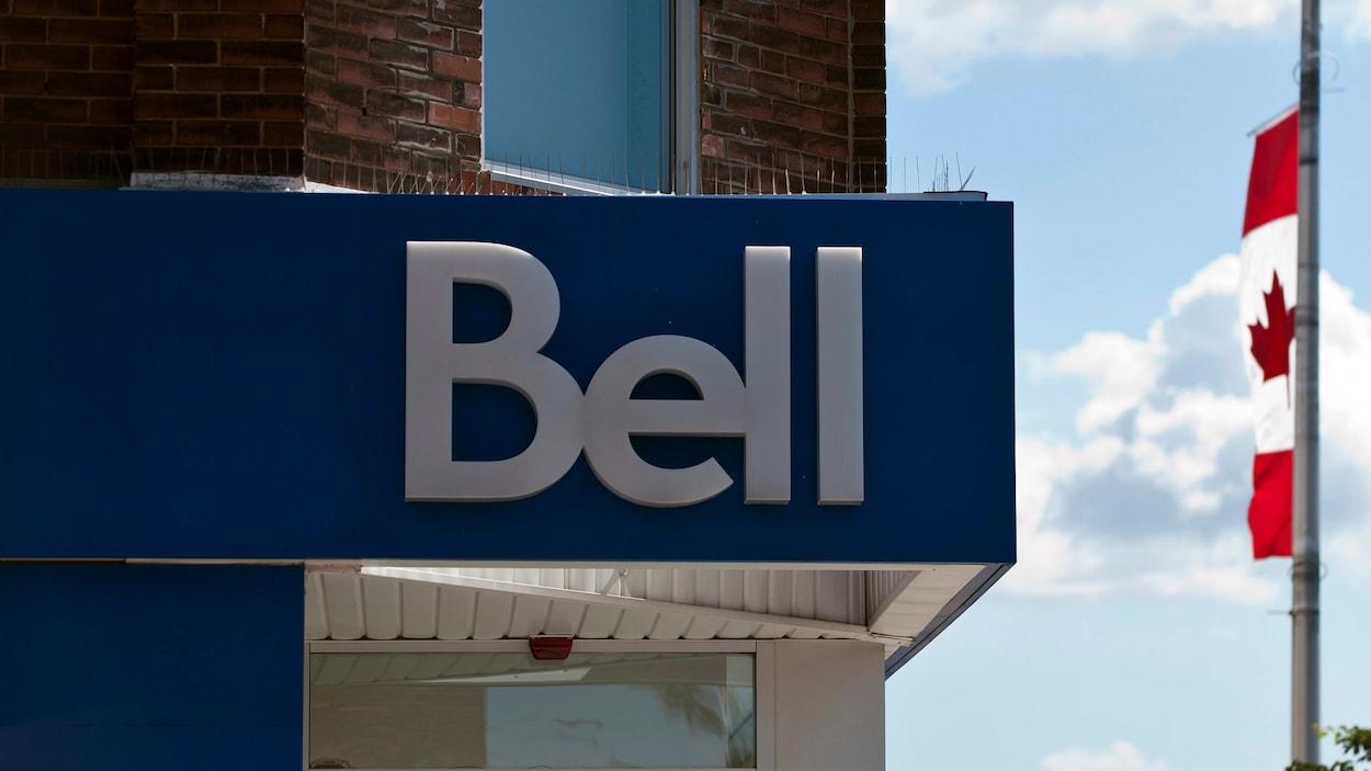 Une enseigne d'un magasin de Bell Canada.