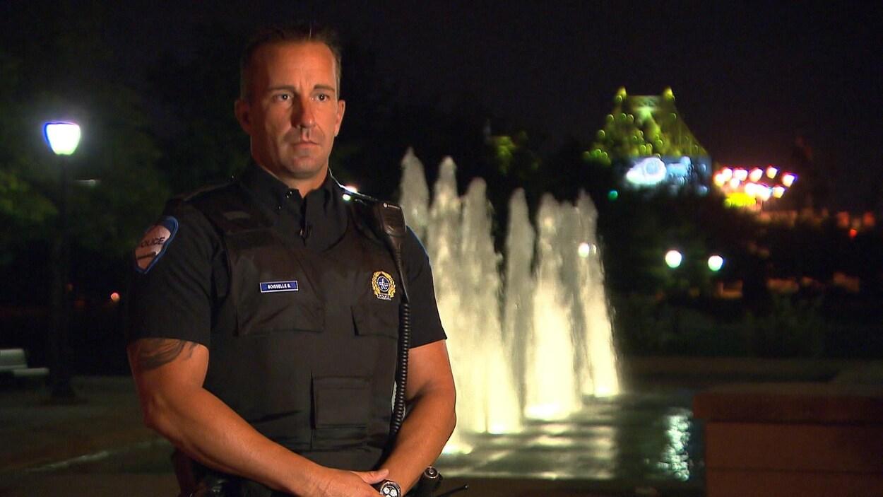 L'agent Benoit Boisselle, du Service de police de la Ville de Montréal.