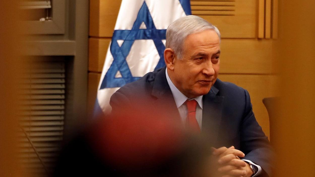 Le premier ministre Nétanyahou assiste à une réunion du Likoud  au parlement le 29 mai 2019.