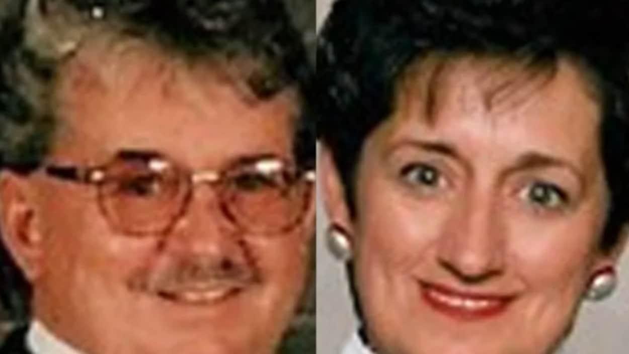 Des photos des deux victimes de meurtre.