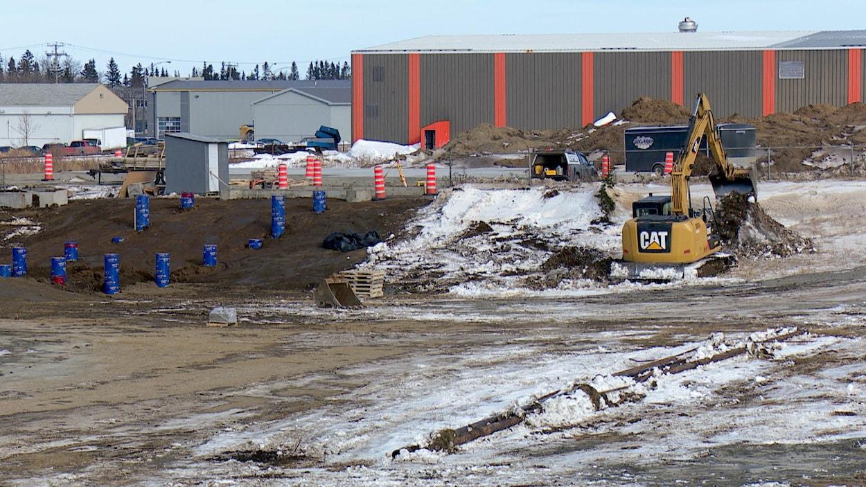 Les travaux sont entamés dans le parc industriel.