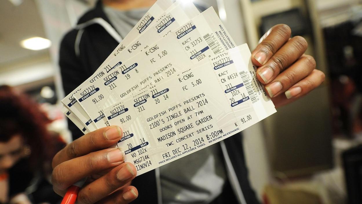 Des billets de concert
