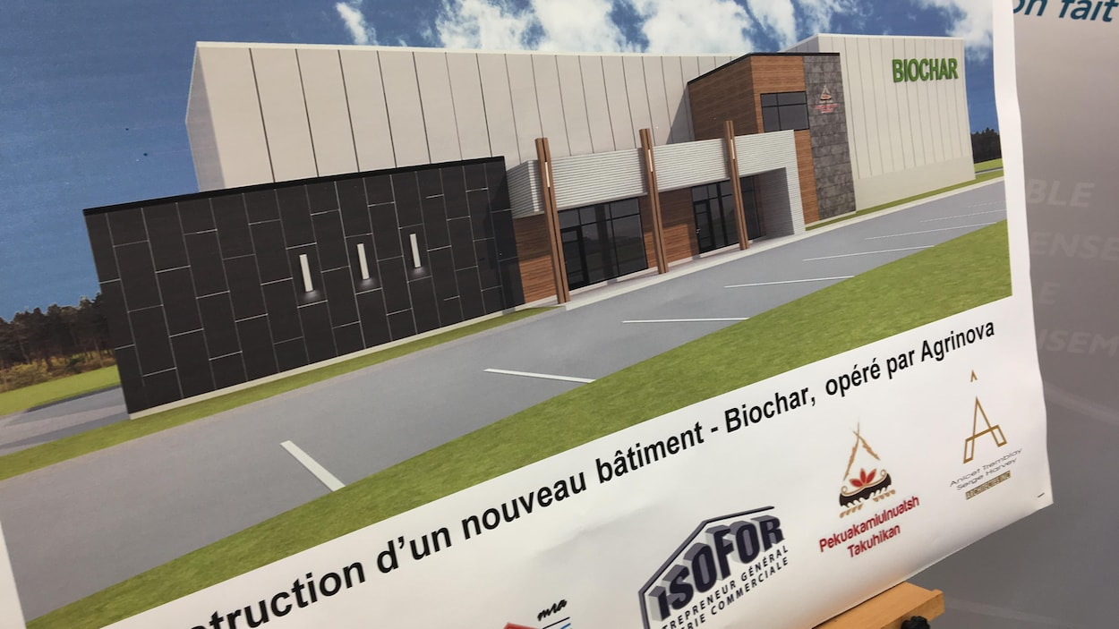 Photo du bâtiment qui sera construit.