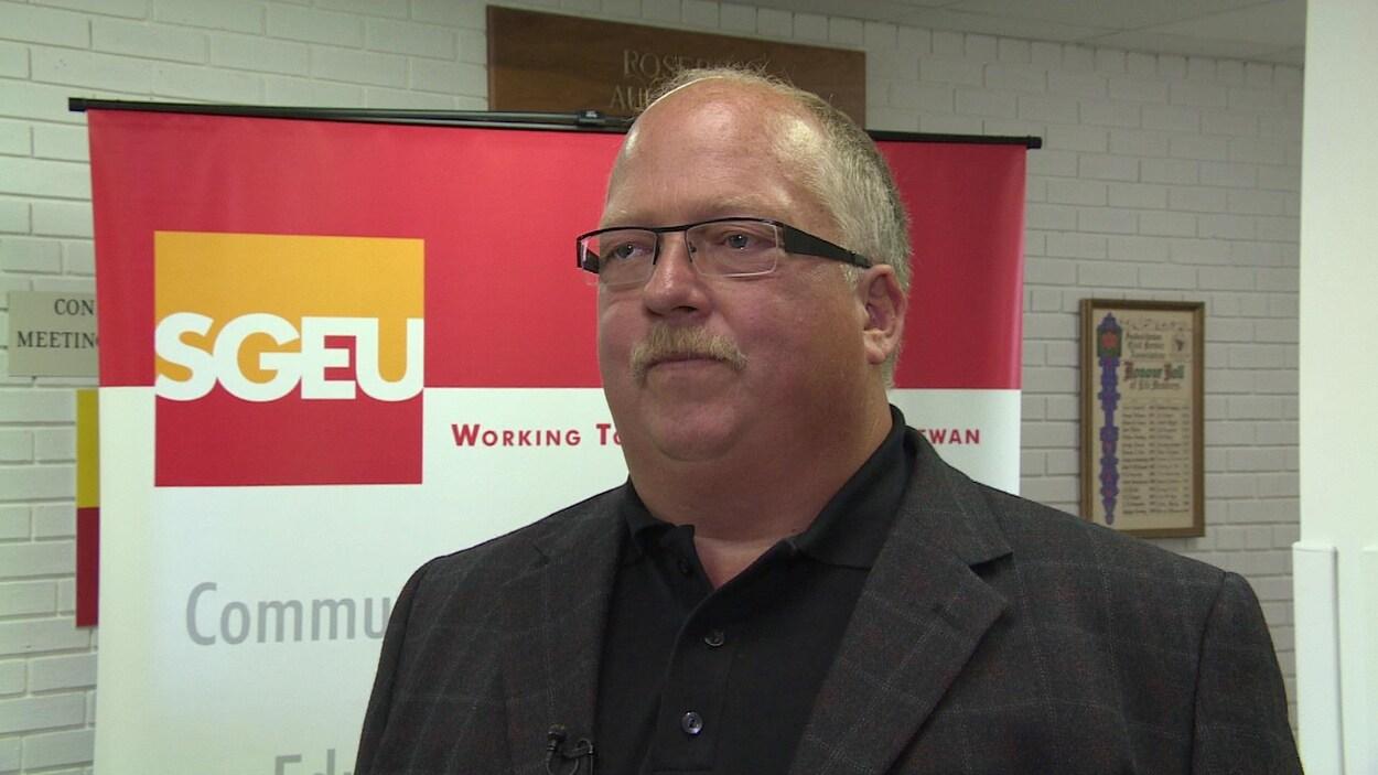 Le président du Syndicat des employés du gouvernement de la Saskatchewan, Bob Bymoen