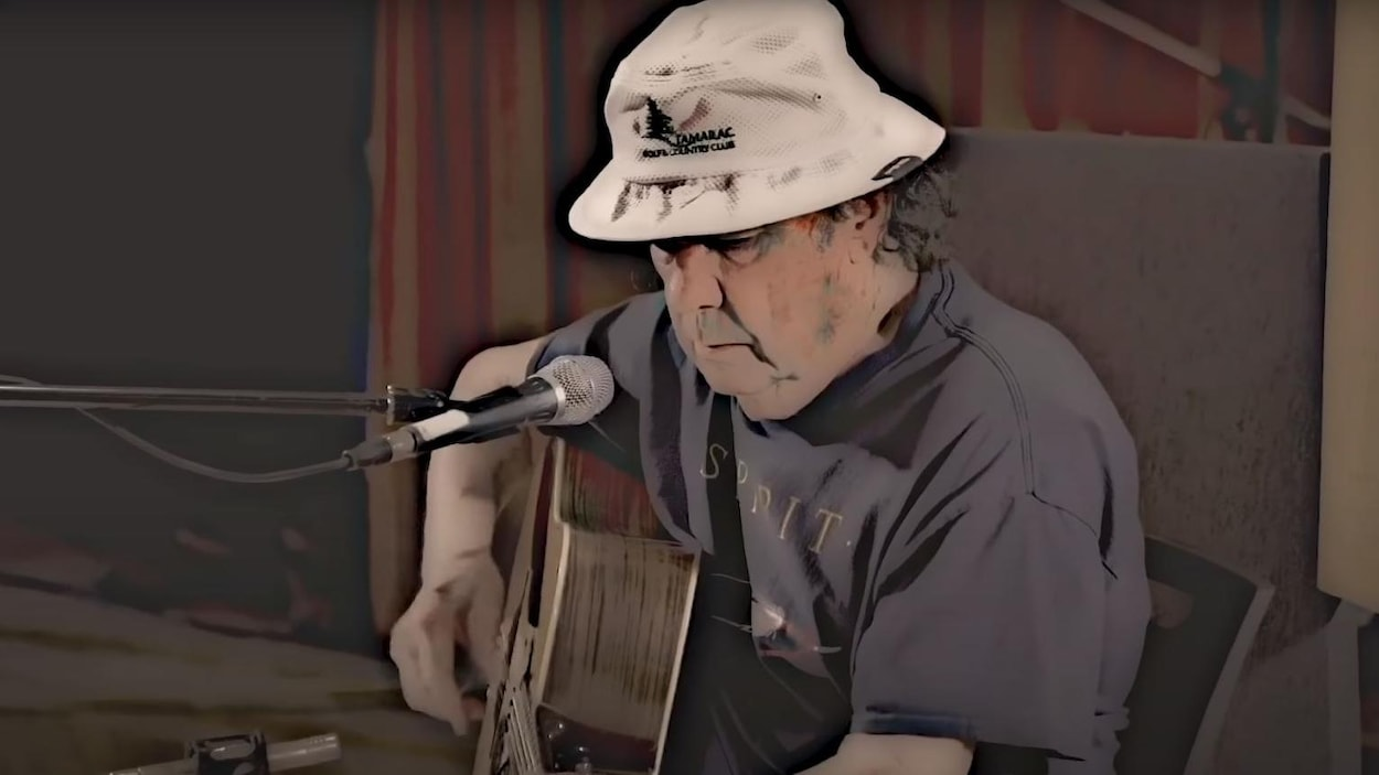 Bob Young à la guitare