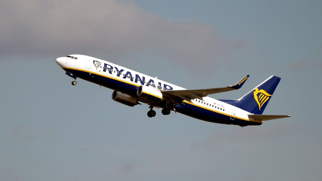 Un Boeing 737 NG de la compagnie Ryanair décolle de Toulouse le 27 septembre 2019.