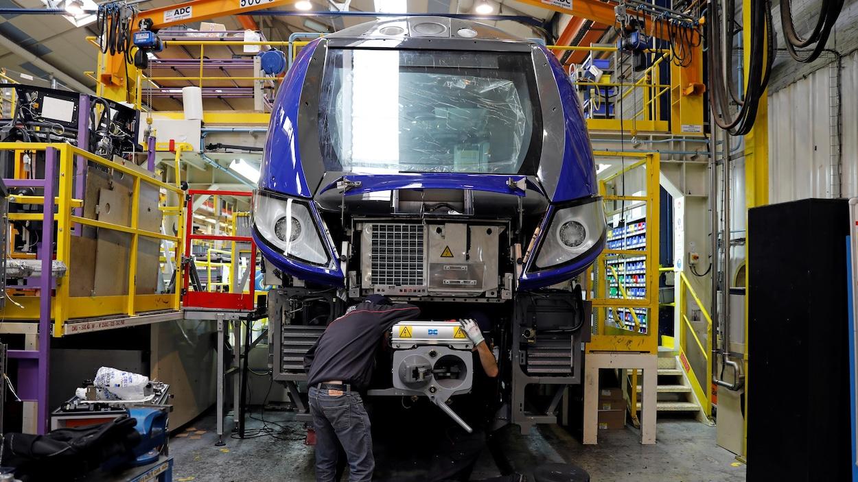 Une usine de Bombardier à Crespin, dans le nord de la France