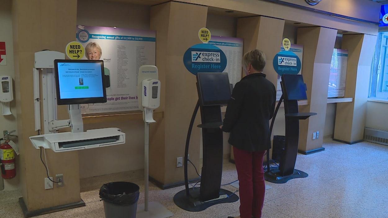 13 bornes d'enregistrements ont été installées dans les hôpitaux du centre-ville d'Halifax depuis 2011.