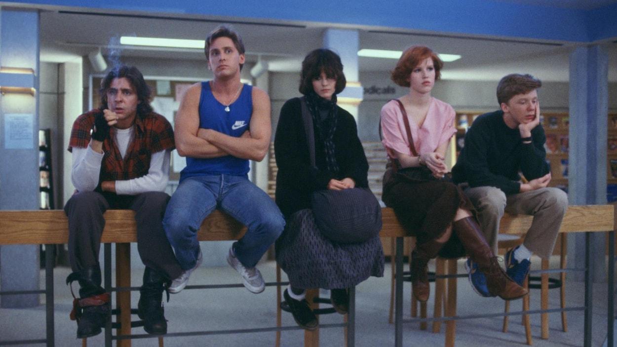Les cinq protagonistes du film « Breakfast Club »