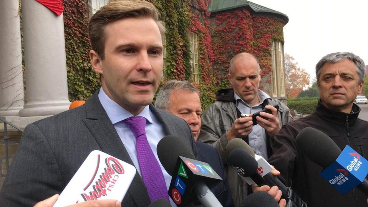 Le premier ministre Brian Gallant.