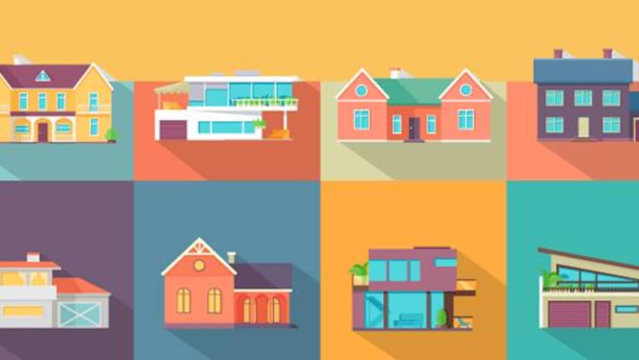 Un graphique montrant des maisons.