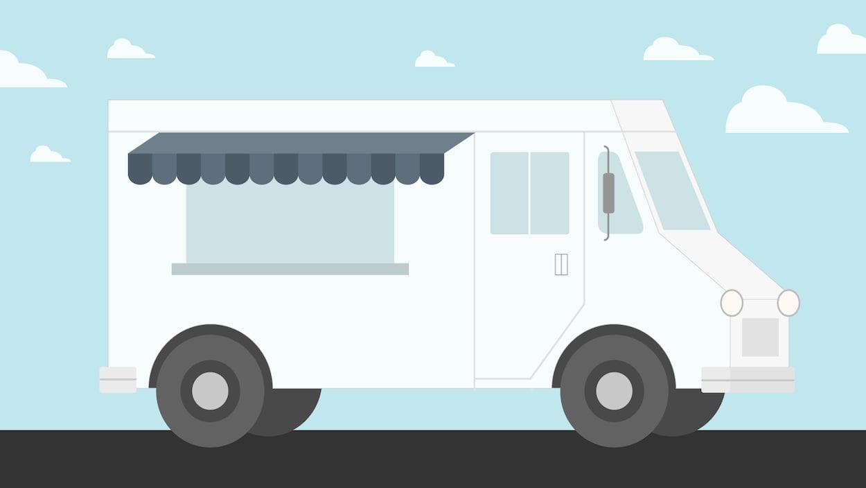 Illustration de camion de cuisine de rue