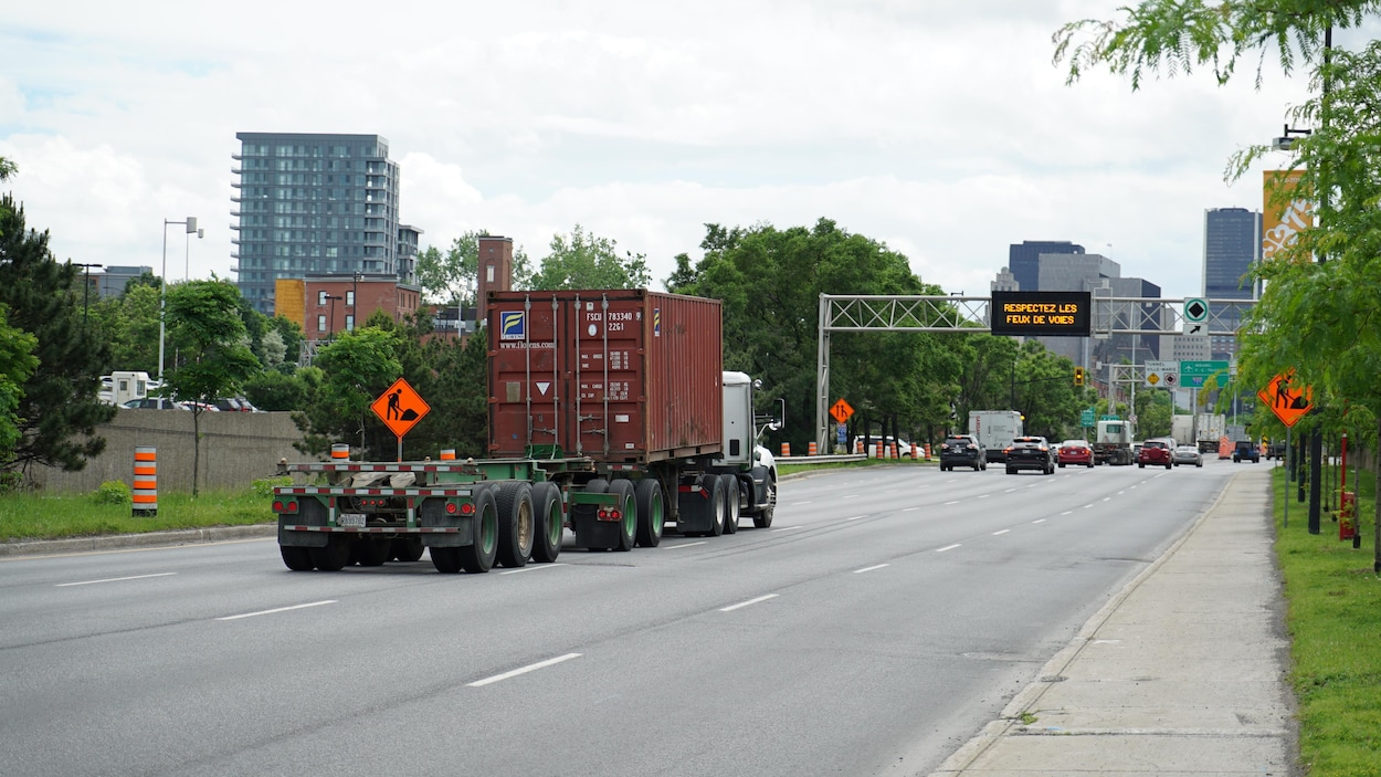 La circulation perturbée par la manif des camionneurs