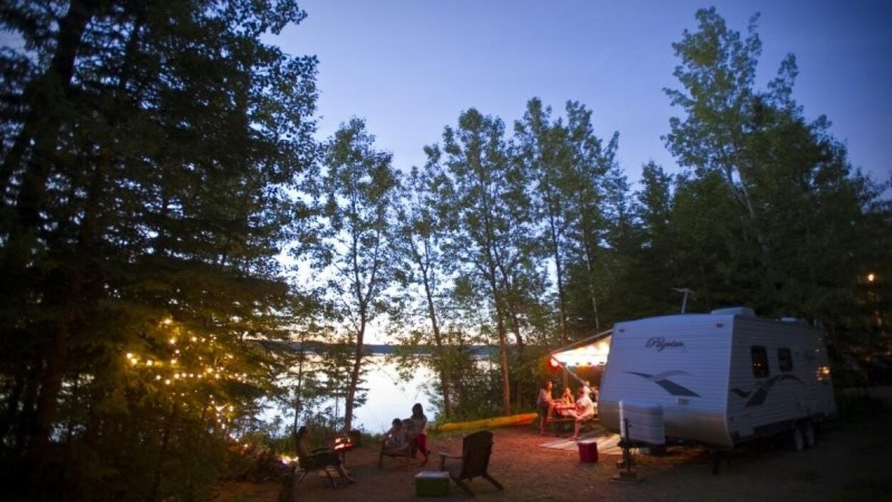 Un terrain de camping.