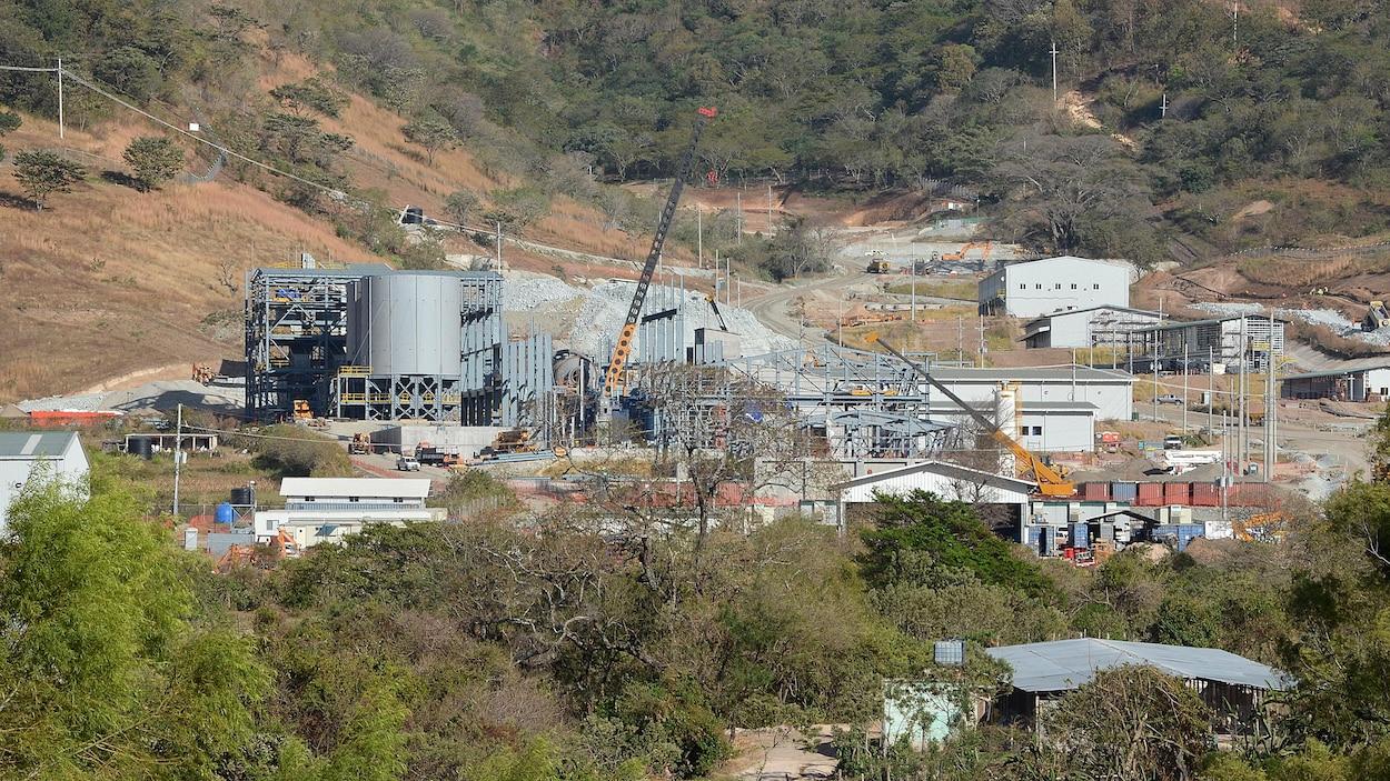 Une vue générale de la mine de San Rafael, une filiale de la société canadienne Tahoe Resources, dans la municipalité de San Rafael Las Flores, à 105 km au sud-est de Guatemala City, le 12 janvier 2013.
