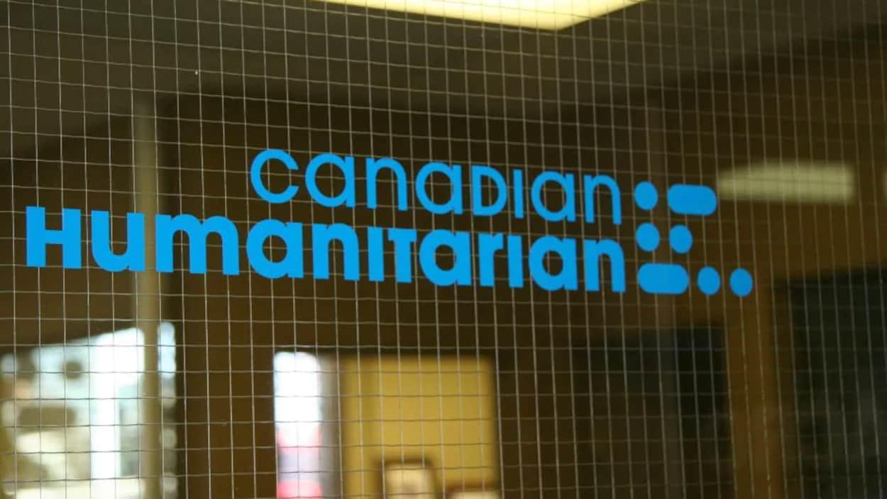 Le sigle de l'organisme Canadian Humanitarian.