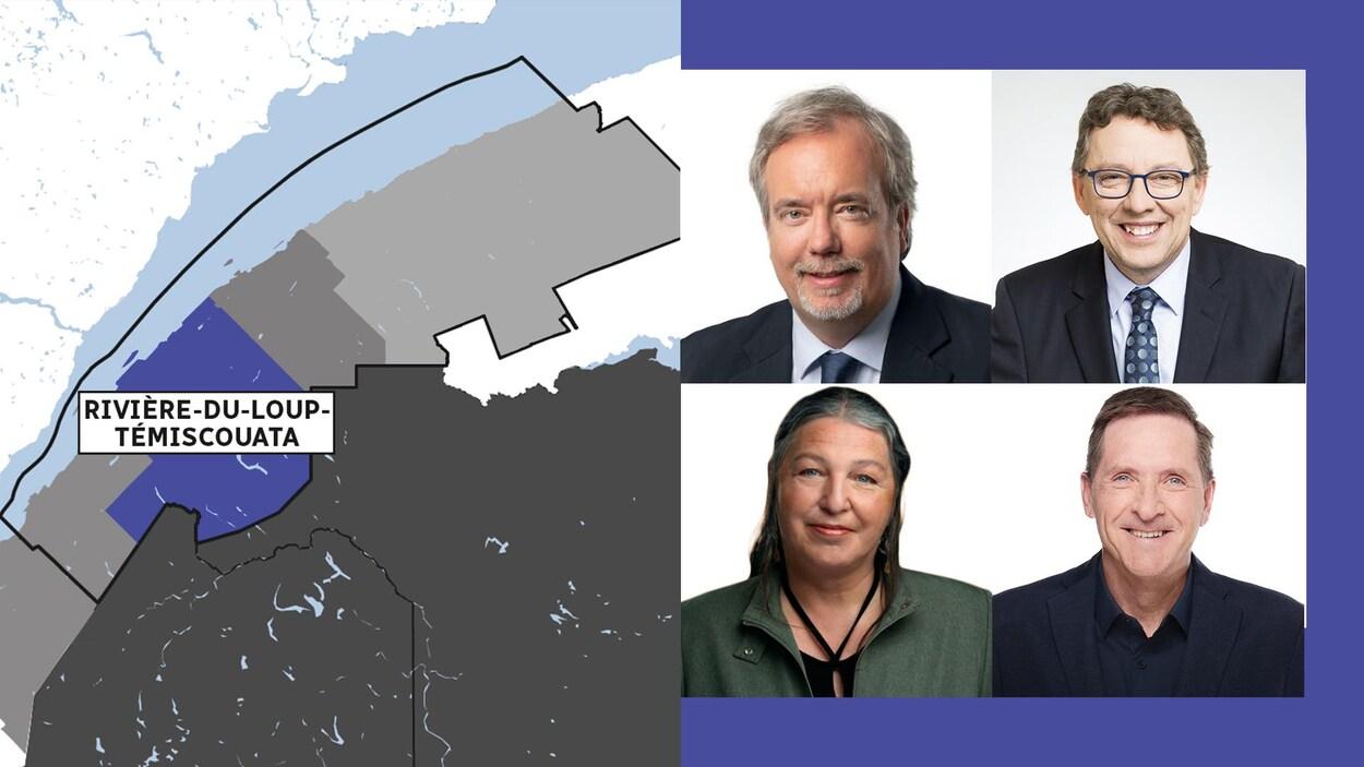 Les candidats en lice dans la circonscription Rivière-du-Loup–Témiscouata