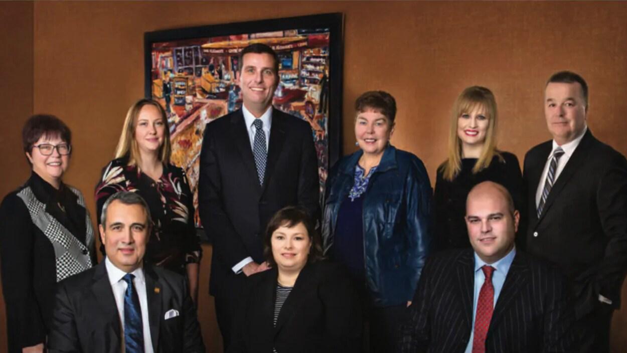 Photographie de groupe des conseillers.