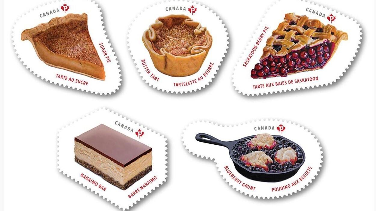 Le carnet Desserts du Canada avec des photos de cinq desserts.