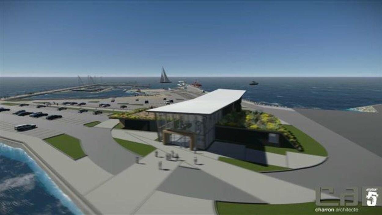 Le projet de Carrefour maritime de Rivière-du-Loup.